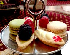 Pastries at afternoon tea at the Jefferson Hotel- delicious.