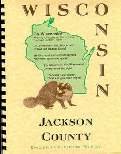 JACKSON COUNTY WISCONSIN~RIVER FALLS WI~ALMA CENTER~HISTORY/BIOGRAPHY/TRIVIA