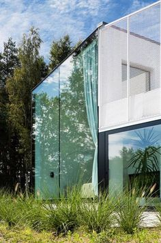 Would love to live in the middle of nowhere (so nobody can creep) and have a glass wall.
