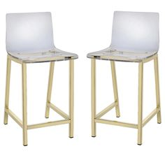 Pure Decor Clear Acrylic Counter Stool - Set of 2 | Overstock.com Shopping - The…