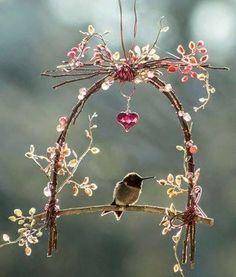 ❥ Bird swing *Something nice to hang outside your window