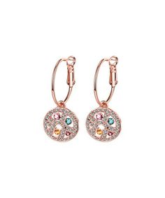 1783e5ffc Love this Rainbow & Rose Gold Round Drop Earrings With Swarovski®  Crystals on #