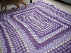 Ravelry: Project Gallery for Rectangular Granny Square Afghan pattern by Erin Lindsey