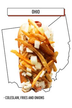 Ohio has a good thing going: A dog topped with french fries, coleslaw, and onions. The real trick is how to eat more than one.   - Delish.com