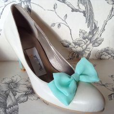 'Marie' - Mint Ice Cream shoes - Handmade leather court shoe with a contrasting mint heel- Handmade by Marsha Hall Created for an Ice cream Collection - Perfect bespoke shoes for Weddings and special occasions -  Visit Marsha Hall's site - www.marshahall.com/