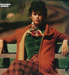 Vogue Italia 1973 Dayle Haddon Photo by Carlo Orsi