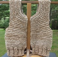 Alpaca Knitted Vest - pinned by pin4etsy.com