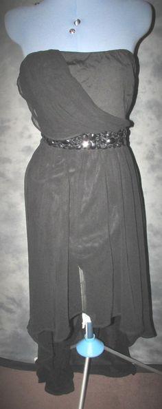AxParis,ladies,plus size 18-20,black,no pattern,no pattern,bandeau,formal,Dress
