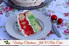 Mommy's Kitchen - Country Cooking & Family Friendly Recipes: Vintage Christmas Jell-O Poke Cake