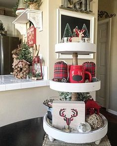 My sweet and extremely talented friend Jodie @happily_nesting tagged me last night. If you don't already follow Jodie you need to stop what you're doing and head over to her page right now! She's definitely #onetofollow Her decor is so beautiful and always inspires me! Here's another full shot of my 3 tier stand. We have a 2nd round CIF football game going on tonight and one last soccer game this weekend! What are you talented ladies up to this weekend? @swirustichome @theglamfarmhouse…