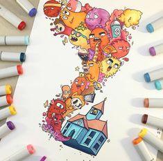 • #art #illustration #drawing #draw #picture #artist #sketch #sketchbook #paper #pen #pencil #artsy #instaart #beautiful #instagood #gallery #creative #instaartist #artoftheday #vexx #vexxart #vinceokerman #doodle #doodles #doodlesofinstagram #doodleoftheday #doodleart @vexx