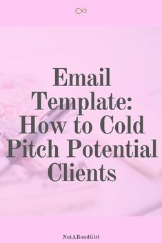 How to Cold Pitch Potential Clients Over Email: Free Template Email Marketing Services, Email Marketing Strategy, Social Media Marketing, Online Marketing, Digital Marketing, Business Tips, Online Business, Cold Email, Write An Email