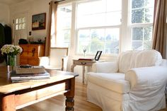 """Hodgepodge Happiness in a Santa Cruz Beach House - """"I love to hunker down in the big white chair in the corner with a cup of coffee."""""""