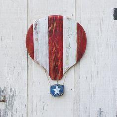 Rustic Patriotic Stars & Stripes ballon reclaimed by AlmaBoheme
