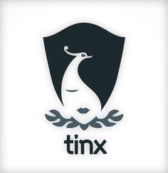 Das Tinx-Verlag Logo ist ein Vexier-, bzw. Kippbild. Tinx ist die 10. Muse.  Logo | Signet | Corporate Design