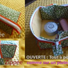 # Zipped # Pouch Kit # Öffnet # für # to – accessoires Pop Couture, Sewing Accessories, Kit, Diy And Crafts, Sewing Projects, Coin Purse, Lunch Box, Creative, Fabric