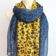 Leopard Scarf  Animal Print Scarf  Leopard Fabric by LocoTrends