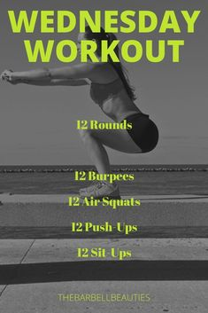 Barbell Beauties Weekly Workout Plan June 3 June 9 - Workout at Home Workout List, Wod Workout, 30 Minute Workout, Crossfit Workouts At Home, Weekly Workout Plans, Routine, Wednesday Workout, Fat Burning Workout, Success