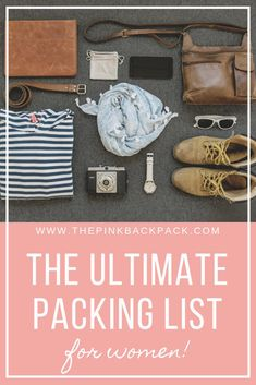 Heading on a backpacking trip abroad but aren't sure what to pack? The most expensive mistake you can make is to overpack your luggage. This packing list details exactly what you should pack, broken down by carry-on and larger backpack, written by a full- Backpacking List, Ultralight Backpacking, Travel Items, Travel Gadgets, Travel Products, Travel Hacks, Travel Guides, Travel Advice, Budget Travel