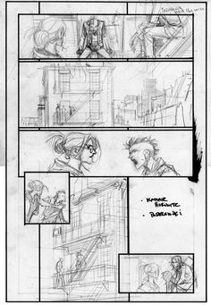 PRj process by seangordonmurphy Comic Book Layout, Comic Book Pages, Comic Book Artists, Comic Books Art, Comic Art, Animation Storyboard, Animation Reference, Comic Frame, Comic Manga