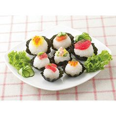 Petite 'n cute Japanese onigiri rice balls #Japanese #kawaii