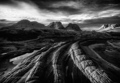 End of Days - White Pocket in Northern Arizona. One of my favourite shots from my 20 day fall 2015 trip down the west coast of the US. I previously posted the colour version but like the black and white rendition as much or more. Wonderful Places, Beautiful Places, End Of Days, West Coast, Landscape Photography, Arizona, Around The Worlds, Earth, Mountains