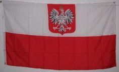 POLAND FLAG - - - - Polish Eagle Crest - - - 3x5ft - - - Old style Poland flag . $4.99. Poland State 3ft x 5ft Printed Polyester Flag. This 3ft x 5ft Poland State Flag is a printed flag that is made of a good quality polyester. It has been finished with a strong header with brass grommets and it is okay for indoor or outdoor use. At great prices like these you won't want to pass it up.