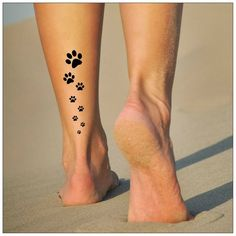 Paws Temporary Tattoo 2 Sets of Paw Tracks | Etsy