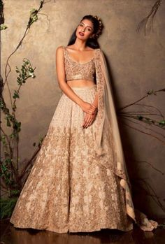 shyamal-bhumika-designer-indian-wedding-gold-beige-net-2016-latest-design-embroidery