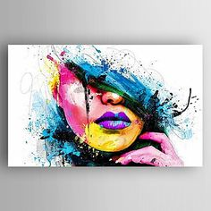 """Universe of goods - Buy """"Wall Art For Large Fashion Painting Canvas Women Face Picture Abstract Figures Hand Painted Colorful Sexy Girl Oil Painting"""" for only 77 USD. Graffiti Art, Pintura Graffiti, Arte Pop, Abstract Portrait, Portrait Art, Hand Painted Canvas, Canvas Art, Painting Canvas, Murciano Art"""