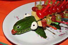 cucumber crocodile - party finger food