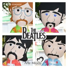 Bonecos The Beatles #doll #boneco #thebeatles #feltro #felt #artemiudacraft