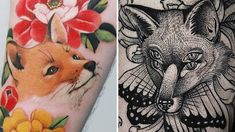 We're sure you'll agree these fox tattoos embody all the cleverness and cuteness of real foxes. Fox Tattoos, Body Art Tattoos, Tattos, Prom Dresses Under 100, Cool Piercings, Plus Size Party Dresses, Cute Fox, Ball Gowns, Clever