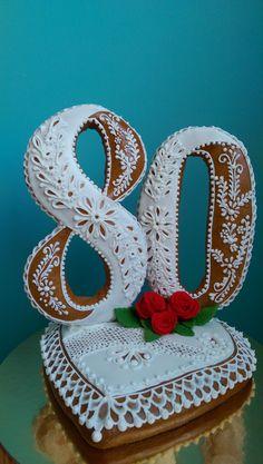 Osobní stránky - Fotoalbum - PERNÍČKY - jak je dělám já - Perníčky Birthday Cookies, 80th Birthday, Hungarian Cookies, Royal Icing, Beautiful Cakes, Hungary, Biscotti, Cookie Decorating, Sugar Cookies