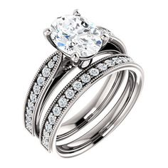 2.0 Ct Oval Diamond Engagement Ring 14k White Gold (1013150 RSD) ❤ liked on Polyvore featuring jewelry, rings, diamond jewelry, white gold diamond jewelry, oval diamond ring, white gold rings and clear diamond ring