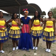 Tsonga Traditional Dresses, African Traditional Dresses, Traditional Wedding Dresses, African Wear, African Women, African Dress, African Style, Pedi Traditional Attire, Traditional Outfits