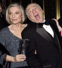 "Anne Bancroft and Mel Brooks. They did such beautiful work together. In fact, ""To Be or Not To Be"" is one of my favorite movies! Famous Couples, Famous Women, Celebrity Couples, Celebrity Photos, Classic Hollywood, Old Hollywood, Anne Bancroft, People Icon, Classic Movie Stars"