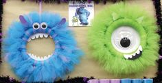 Monsters Inc. Tulle Wreaths
