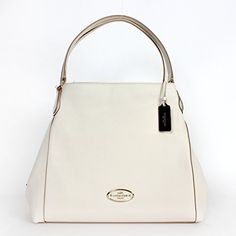 ... Coach 33547 Refined Pebble Leather Edie Shoulder Bag Chalk ... 4b3094357954a