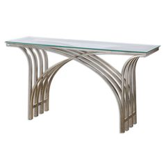 Kassia Silver Iron Console Table