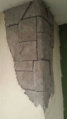 Vertical carved concrete