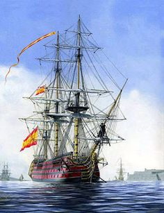 Historia y divulgacion historica Spanish Galleon, Ireland Vacation, Ireland Travel, Old Sailing Ships, Ship Of The Line, Man Of War, Boat Painting, Art Story, Ireland Landscape