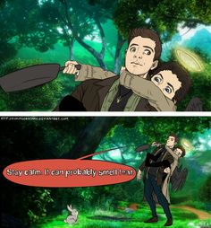 Supernatural/Tangled (for once with Dean as someone other than Rapunzel . . .)