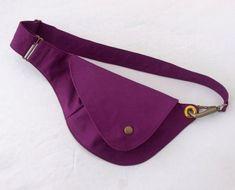 Red Violet Cotton Belt Bag : Fanny Pack Hip Bag by rocksandsalt Hip Bag, Waist Pack, Clutch, Bag Making, Purses And Bags, Tote Bag, Stylish, Purple, Leather