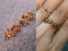 Simple knot ring - How to make wire jewelery 237
