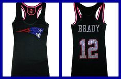New England Patriots Tom Brady Bling Sparkle Jersey by BlingCircus