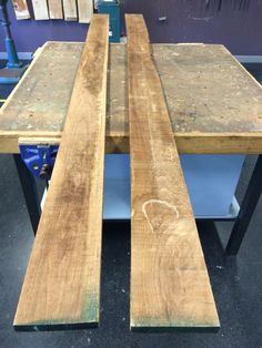 The two lengths of American walnut. Still rough sawn American Walnut, Two By Two, Dining Table, Tech, Rustic, Wood, Furniture, Home Decor, Technology