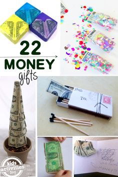22 Creative Money Gift Ideas - lots of fun ways to gift money that don't include an envelope!