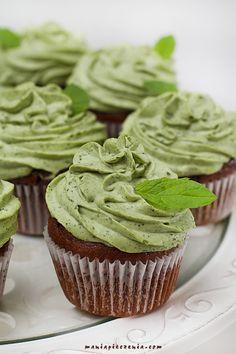 Babeczki czekoladowo - miętowe / Chocolate & Mint Cupcakes
