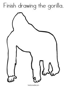 baby gorilla coloring sheet - Google Search